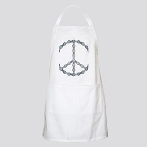 peace chain drk Apron