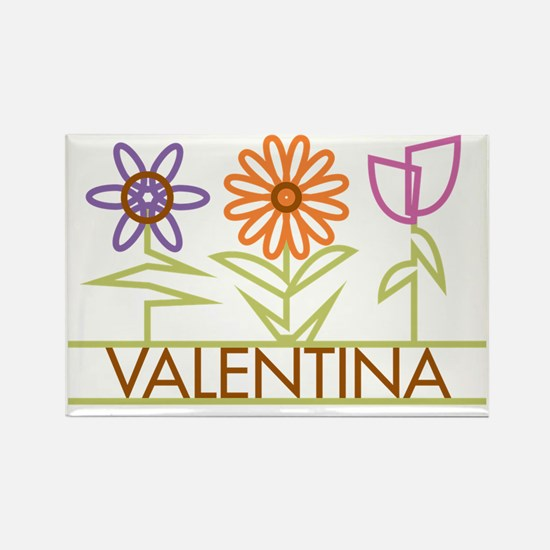 VALENTINA-cute-flowers Rectangle Magnet