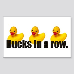 Ducks in a Row Rectangle Sticker
