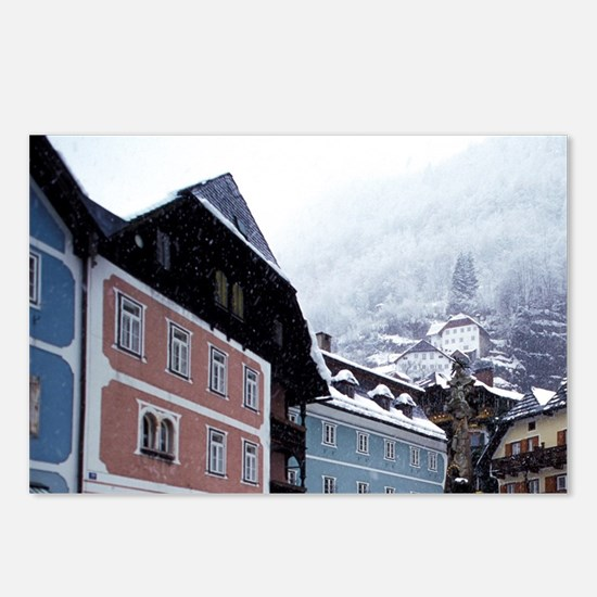 Hallstatt. Town center du Postcards (Package of 8)