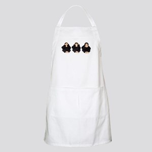 Hear, See, Speak No Evil Monkey BBQ Apron