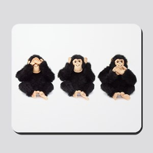 Hear, See, Speak No Evil Monkey Mousepad