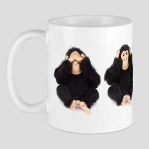 Hear, See, Speak No Evil Monkey Mug