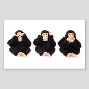 Hear, See, Speak No Evil Monkey Sticker