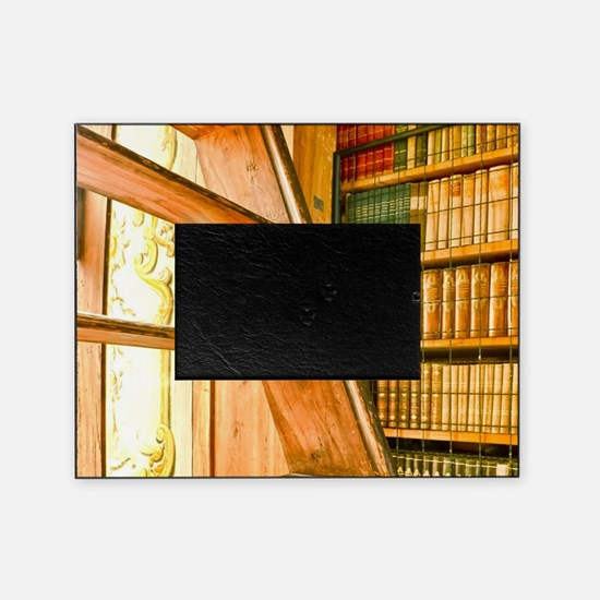 The library contains volumes hundred Picture Frame