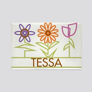 TESSA-cute-flowers Rectangle Magnet