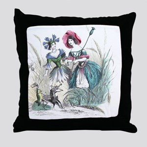 Cornflower and Bluebottle Throw Pillow