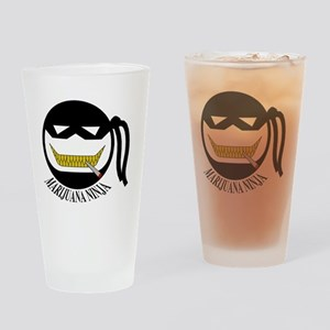 Marijuana Ninja T Shirt Drinking Glass