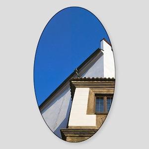 Cesky Krumlov Chateau, Czech Republ Sticker (Oval)