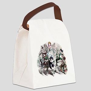 Flower Queen Canvas Lunch Bag