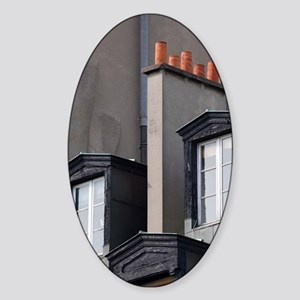 Dormer windows, Paris, France Sticker (Oval)
