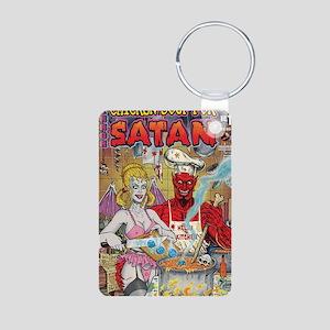 CHICKEN SOUP FOR SATAN Aluminum Photo Keychain