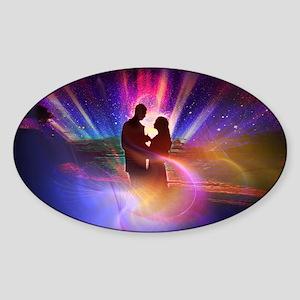 Couple_in_Light Sticker (Oval)