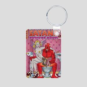 Satans Powder Room Aluminum Photo Keychain