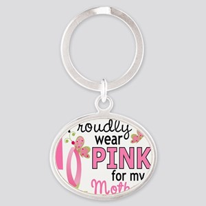 - Pink for My Mother-In-Law Oval Keychain