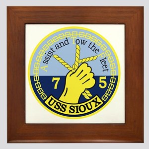 ATF-75 USS Sioux Military Patch Framed Tile