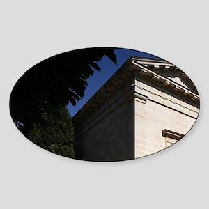 The chapel of Cimtiere du Pere Lach Sticker (Oval)