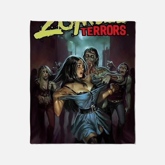 Zombie Terrors Throw Blanket
