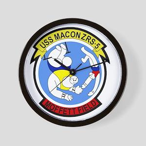 ZRS-5 USS MACON US NAVY Airship for sco Wall Clock