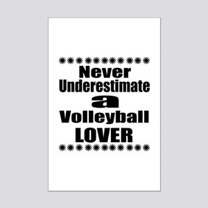 Never Underestimate Volleyball L Mini Poster Print