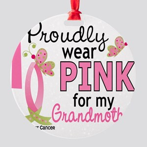 - Pink for My Grandmother Round Ornament