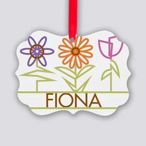FIONA-cute-flowers Picture Ornament