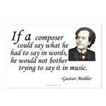 Mahler on Composing Postcards (Pkg of 8)
