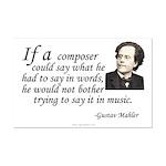 Mahler on Composing Mini Poster Print