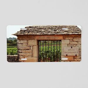 Taboureau. An iron gate and Aluminum License Plate