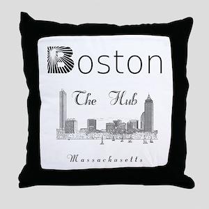 Boston_12_12_Wmn_plusv_Skyline_TheHub Throw Pillow