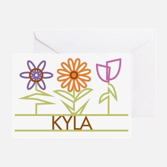 KYLA-cute-flowers Greeting Card