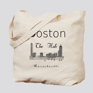 Boston_12_12_Wmn_plusv_Skyline_TheHub_Bla Tote Bag