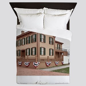 16x20 the lincoln home Queen Duvet