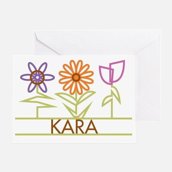 KARA-cute-flowers Greeting Card