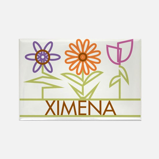XIMENA-cute-flowers Rectangle Magnet
