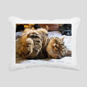 calendar happycat 01 jan Rectangular Canvas Pillow