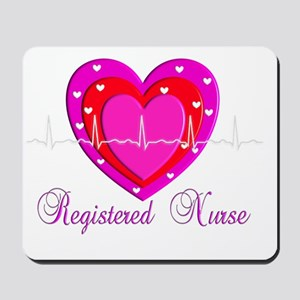 Registered Nurse PINK HEART 2011 Mousepad