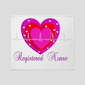 Registered Nurse PINK HEART 2011 Throw Blanket