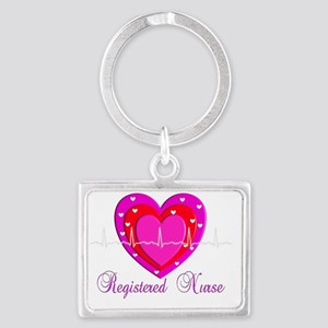 Registered Nurse PINK HEART 201 Landscape Keychain