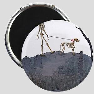 skeleton dog person Magnet
