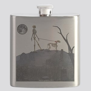 skeleton dog person Flask