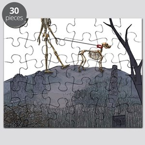 skeleton dog person Puzzle