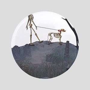 """skeleton dog person 3.5"""" Button"""