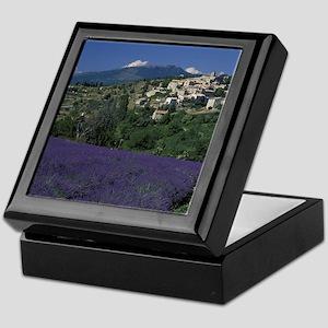 Hilltop village Provence, Aurel Laven Keepsake Box