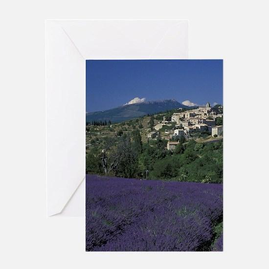 Hilltop village Provence, Aurel Lave Greeting Card