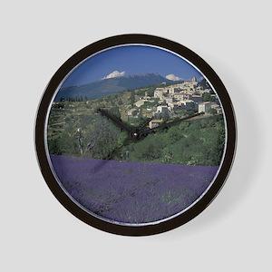 Hilltop village Provence, Aurel Lavende Wall Clock