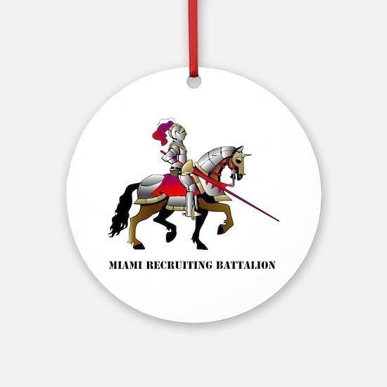 DUI - Miami Recruiting Battalion wi Round Ornament