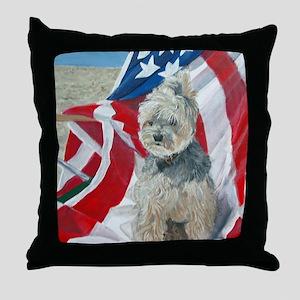 8x10 FlagMorkie Throw Pillow