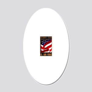 Freedom AIR FORCE 16X20 20x12 Oval Wall Decal