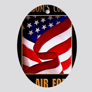 Freedom AIR FORCE 16X20 Oval Ornament